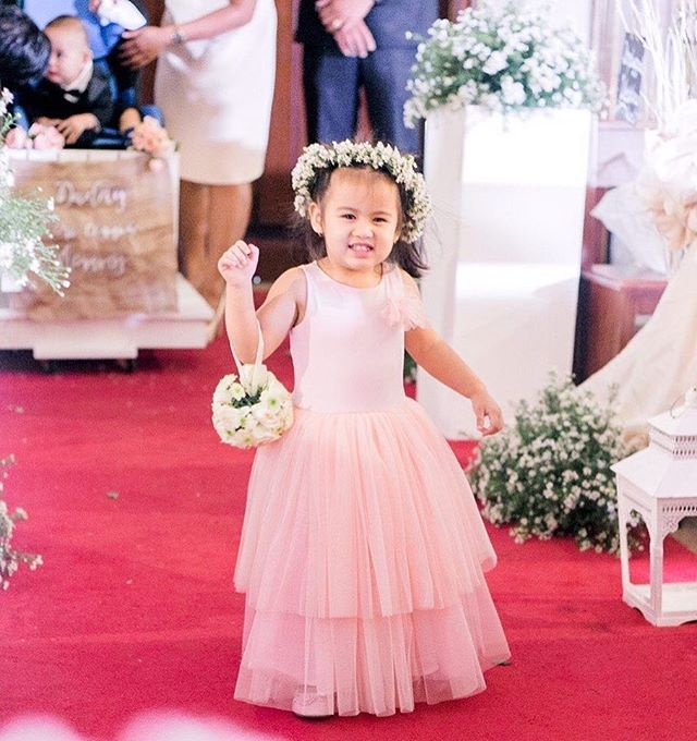 Cutie flower girl wearing custom love, C tutu dress 😍 thank you _katycherry09 ❤️ pls follow _lovecm