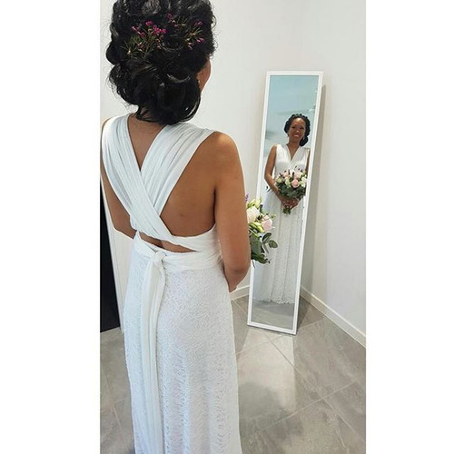 A lovely bride from Brisbane wearing our