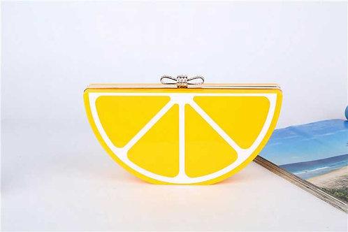 Lemon Acrylic Clutch Bag