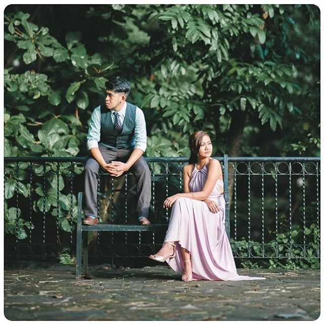 Gorgeous _klyc101107 wearing love, C's infinity gown with necklace accessory for styling 😍 prenup s
