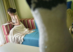 Gorgeous _allisonjotojot used _lovecmanila infinity dress in nude as her prep dress for her wedding