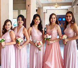 Thank you for sending us your bridesmaids' pic ❤️ They looked lovely in Love C blush pink infinity g