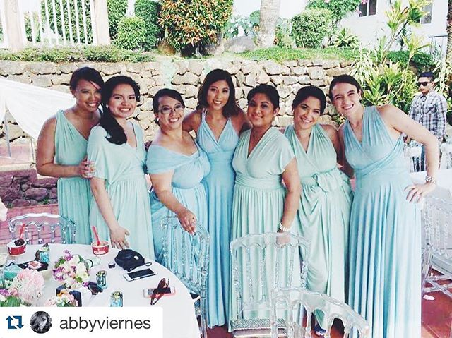 Gorgeous bridesmaids of _joreenaudrey 😍 Thank you _abbyviernes & _huanimal for tagging us! ❤️ ・・・_T