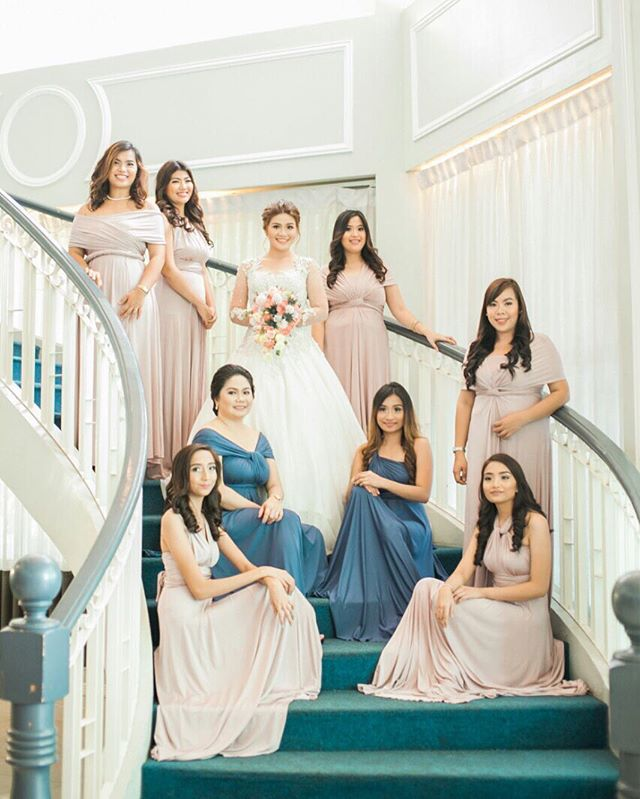 Beautiful girls of _orlanedavid wearing custom infinity gowns by Love, C 😍 #infinitygownsbyloveC__V