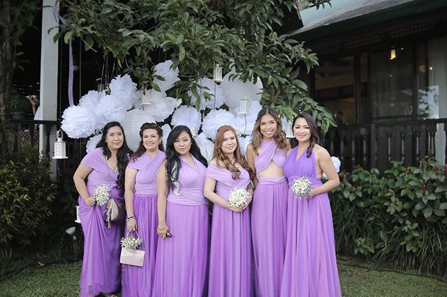 Lovely girls in our Infinity gowns with