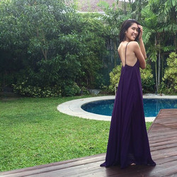 princess _anjngot looking gorgeous in our violet Lucia sideboob dress 😍 thank u so much girl ❤️