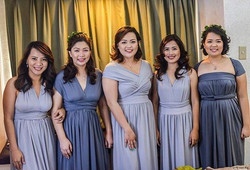infinity gowns 😍 loving this color theme! Best wishes to you Shy! 😘 #inf