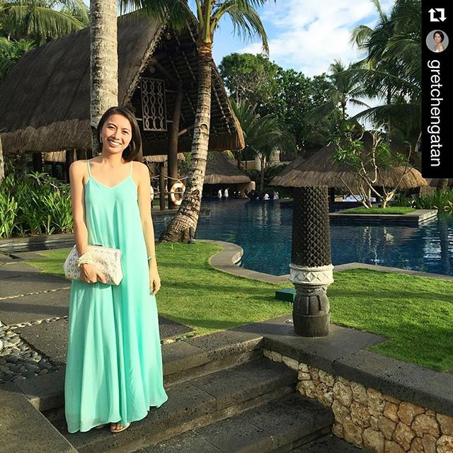 My pretty client Gretch wearing Lucia in mint 💚 thank you Gretch!!!! 😙 #Repost _gretchengatan with