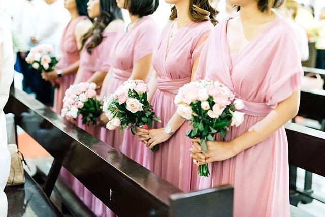 Bridesmaids in our infinity gowns with t