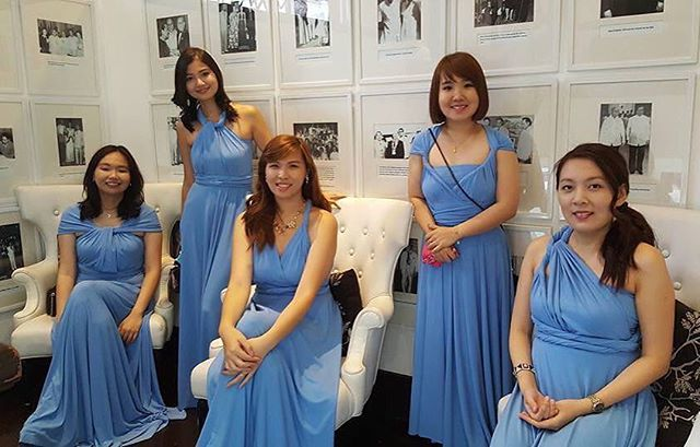 Pretty bridesmaids wearing custom infinity gowns! Thank you _iamchuabelles for sharing us this beaut