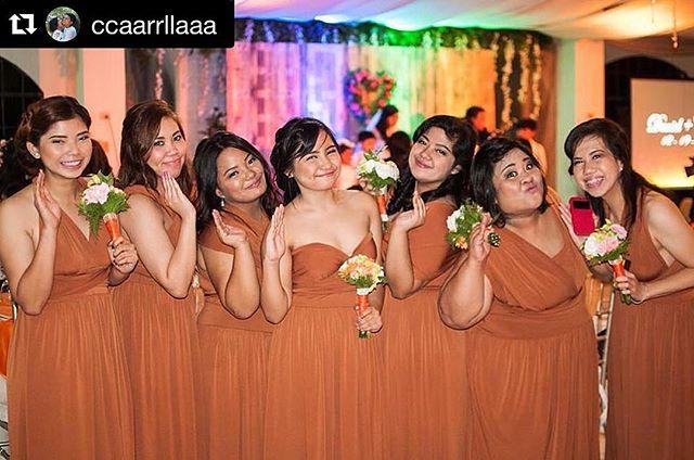 _ccaarrllaaa's bridesmaids wearing Love, C infinity gowns ❤️ #Repost _ccaarrllaaa with _repostapp._・