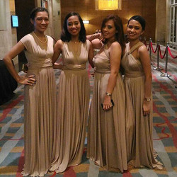 Beautiful girls from World Vision wearing our nude infinity dresses 😍 thanks girls!