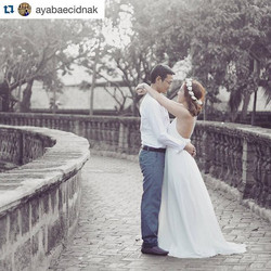 Lovely bride-to-be wearing our Faye in cream white ❤️ best wishes dear! #Repost _ayabaecidnak with _