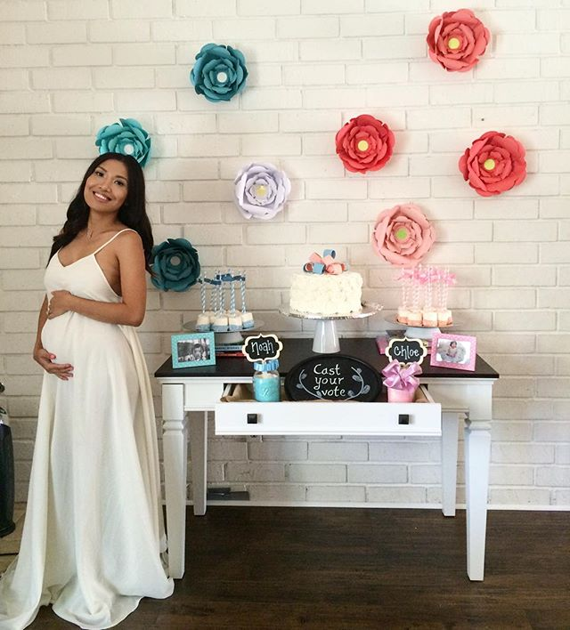 One of my favorite clients looking fab on her gender reveal party! Thank you so much for sending us