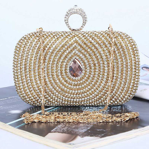 Sparkling Crystals Clutch Bag