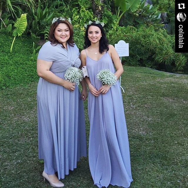 infinity gown (left) & Lucia gown (right) 😍 #Repost _celalala with _repostapp