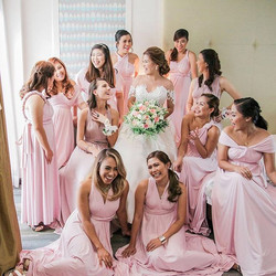 Beautiful bridesmaids of _carmilya wearing custom infinity gowns by Love, C 😍 thank you dear for ta