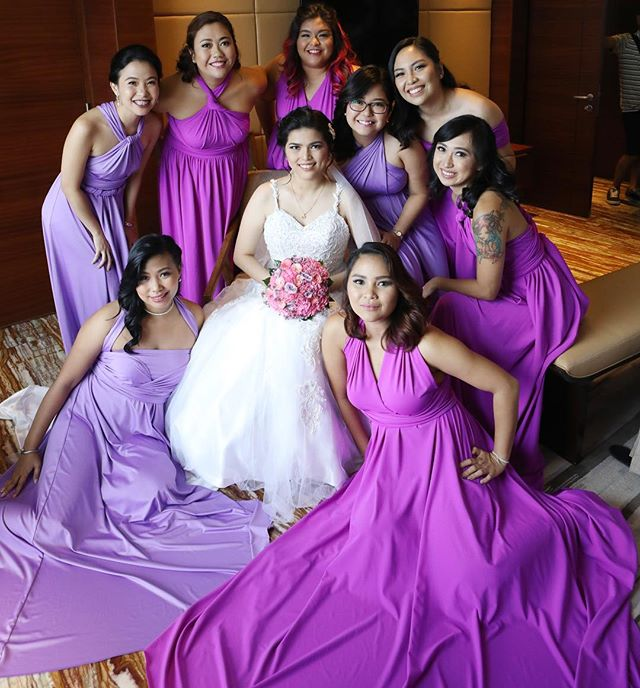 Lovely bridesmaids in purple shades 💜 thank you _ching