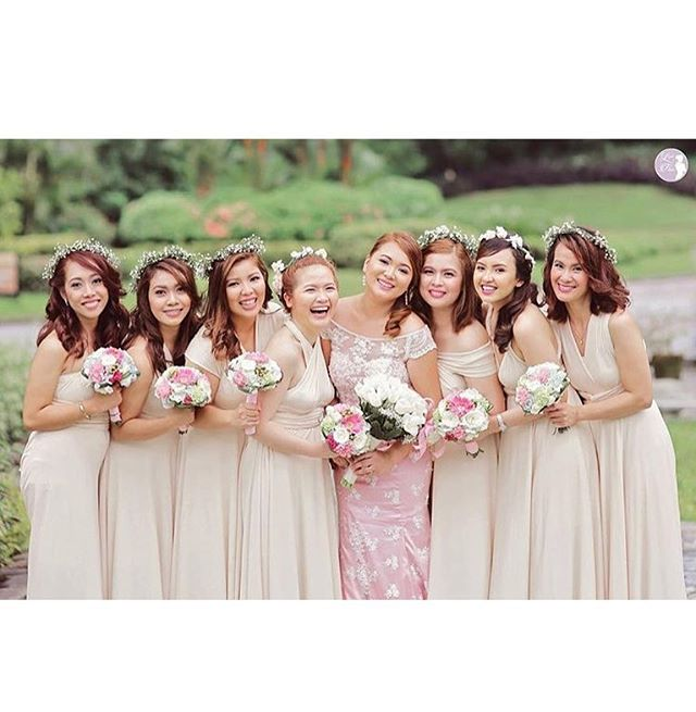 One of our favorite unique weddings 😍 beautiful bridesmaids wearing our custom infinity gowns in of