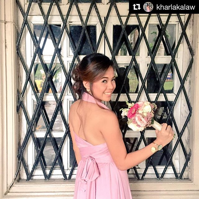 This bridesmaid is just gorgeous with her love, C infinity gown😍 thank you _kharlakalaw, so pretty!
