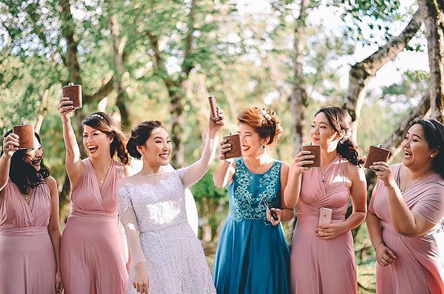Gorgeous bridesmaids wearing custom #infinitygownsbyloveC ❤️ View more details re our gowns at _love