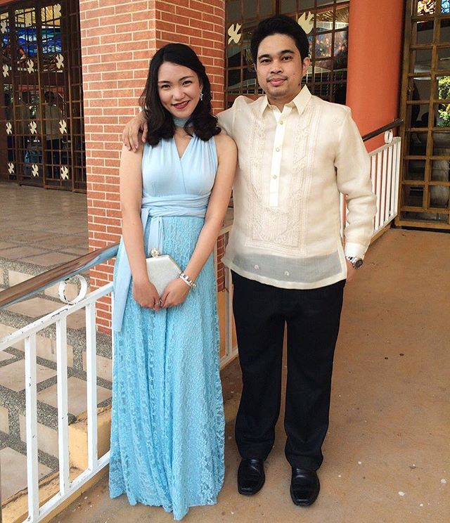 _rosesteffanie wearing Love, C's powder blue infinity gown with lace overlay, so gorgeous! 💙__To ge