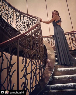 Gorgeous _annchua14 working the stairs with our infinity gown 😍 you go girl! #workwork _PM us to ge