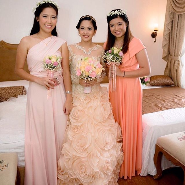 Beautiful bridesmaids of ms