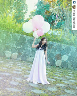 Beautiful _miss_hershiez wearing our Lucia in Blush pink 😍 #Repost _miss_hershiez with _repostapp