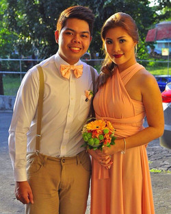 _eyphril44's groomsman and bridesmaid looked lovely in peach!! ❤️ thank you and congrats April! Can'