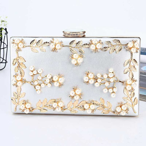 Pearls and Vines Clutch Bag