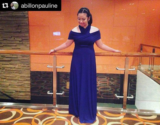 We are so in love with how you styled our infinity gown, _abillonpauline 💙 you looked gorgeous! _PM