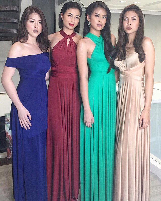 The beautiful sang'gres of Encantadia wearing _lovecmanila infinity gowns! 😍 #encantadia #sarapdiva