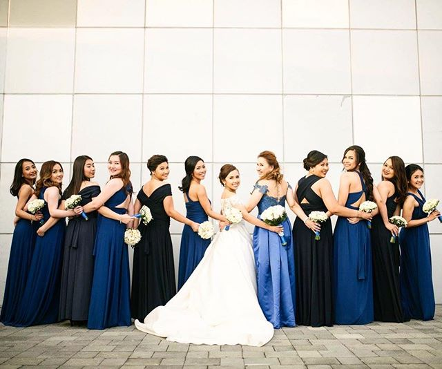 Shades of blue for _itsybitsycovy's lovely bridesmaids 😍 thank you so much for sharing these photos