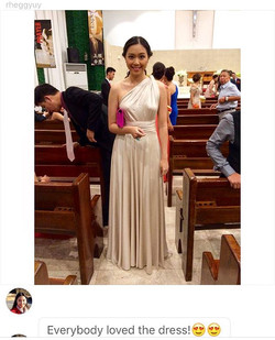 Thank you for sending us your pic _rheggyuy 😍 you looked so pretty in champagne! #lovecfeedback