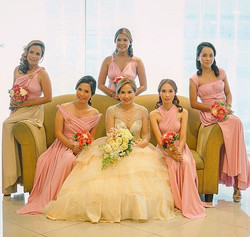 Beautiful girls of _thefashionistamomma wearing custom infinity gowns by Love, C