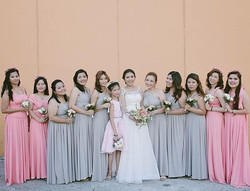 Bridesmaids wearing our custom infinity gowns❤️ Thank you so much _theadventuresofmrandmrse for shar