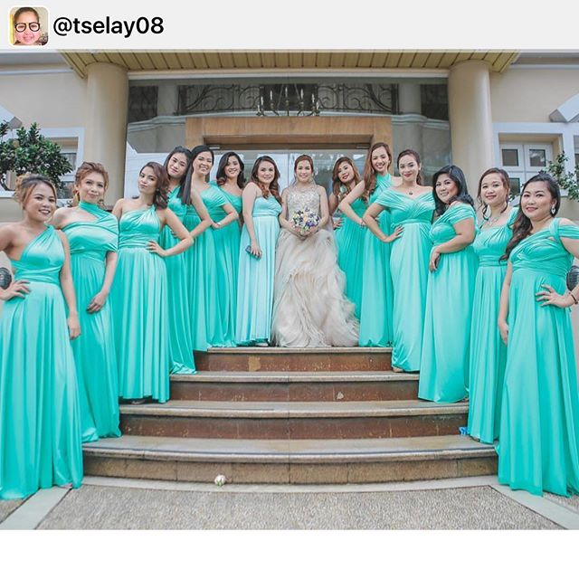 Gorgeous bridesmaids wearing our custom infinity gowns 💚 thank you pretty _tselay08! Best wishes 😘
