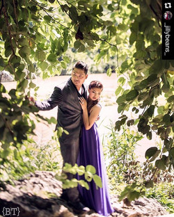 What a lovely couple! __jillybeans_ wearing our Faye on her prenup shoot! 😍 congrats __jillybeans_