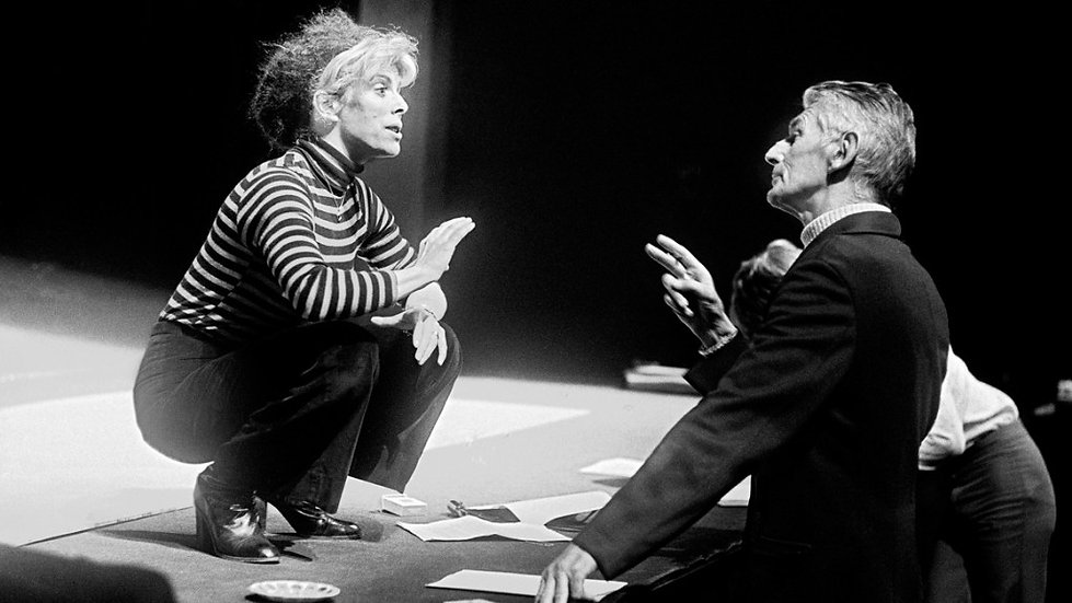 Beckett and Billie Whitelaw rehearsing Not I