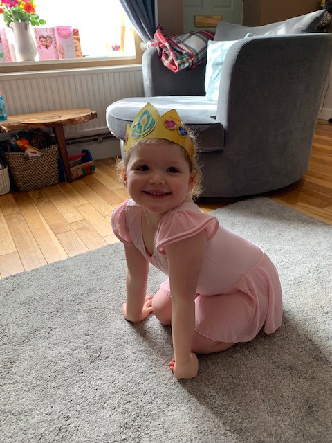 A young Pre-School Ballet pupil showing off her crown made especially for her class!