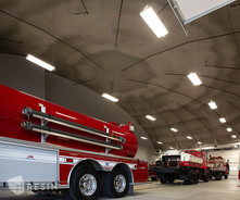 View of the domed ceiling inside South Summit Fire Station.