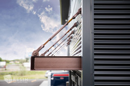Suspended overhang for exterior of Total Trailer Co. in Idaho Falls.