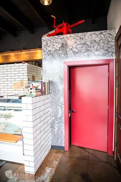 Sweet Cheeks Meats red door