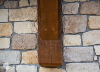 Up close detail of a wooden structure at Idaho Falls Pediatrics.