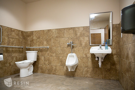 View of a restroom in South Summit Fire Station.