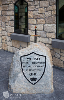 Replica sword in the stone at Idaho Falls Pediatrics.