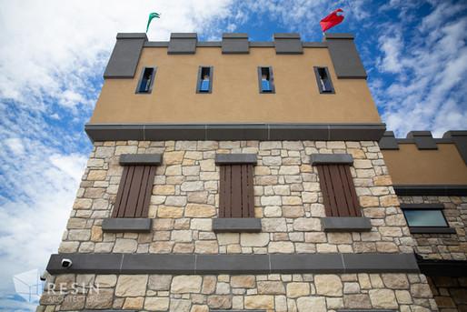 West turret of the castle designed Idaho Falls Pediatrics.