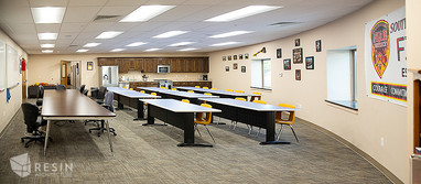 View of a conference room insdie South Summit Fire Station.