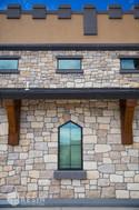 Custom designed window with medieval feel.